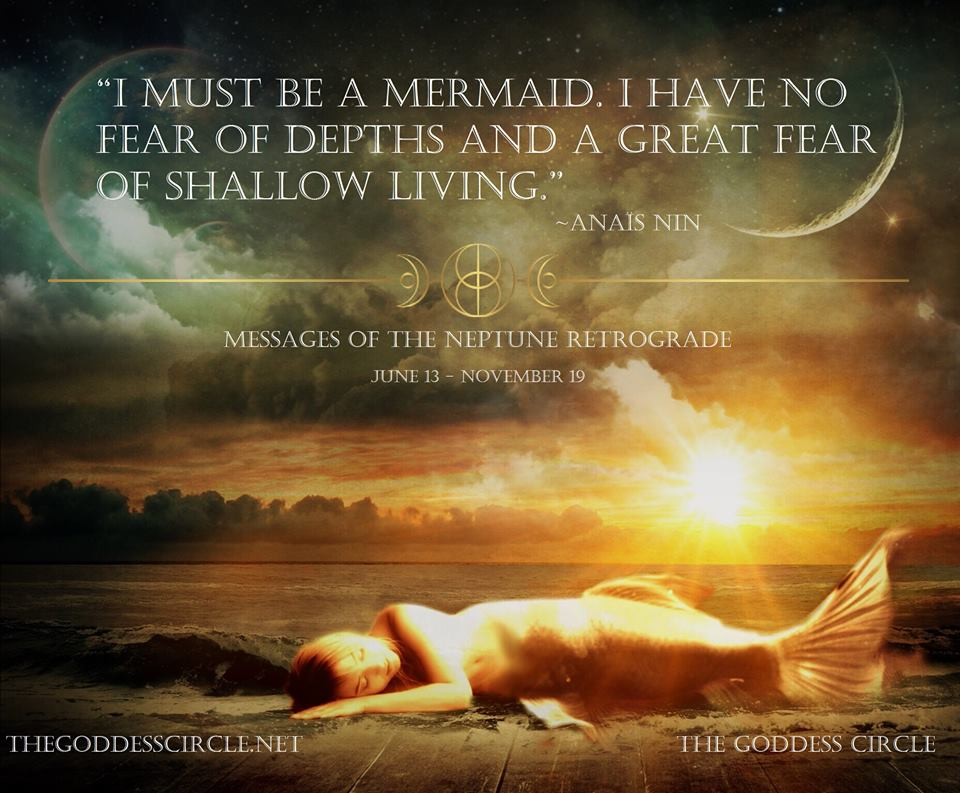 i'm fur shur a mermaid and holy planetary going on-ness!